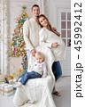 クリスマス ファミリー 家庭の写真 45992412