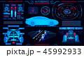 四輪車 自動車 バックグラウンドのイラスト 45992933