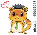 タヌキのマスコットキャラクター 先生風 45995926