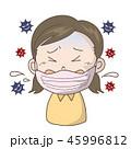 インフルエンザ 風邪 マスクのイラスト 45996812