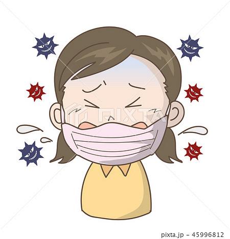 インフルエンザ・風邪〈マスク女の子〉 45996812