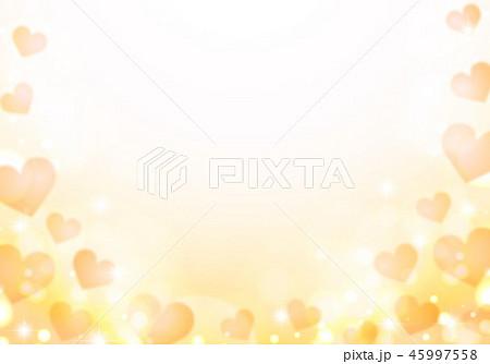 キラキラシャボン玉と黄色ハート 45997558