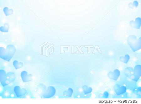 キラキラシャボン玉と青色ハート 45997585