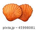 マドレーヌ スイーツ 焼き菓子のイラスト 45998081