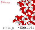 Abstract red geometric background with polygonal. 46001141