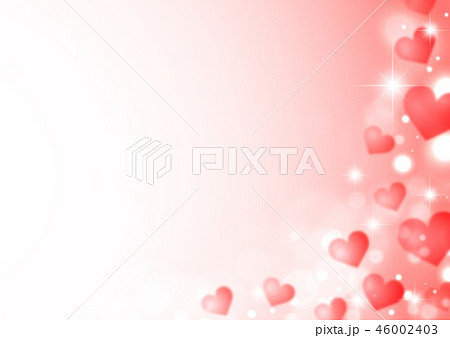 キラキラシャボン玉と赤いハート 46002403