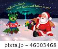 サンタクロース エイリアン 宇宙人のイラスト 46003468