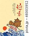 猪 年賀状 亥のイラスト 46003952