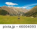 Hiker man walking mountains 46004093