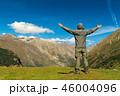 Hiker man walking mountains 46004096