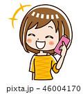 電話 スマホ 女性のイラスト 46004170