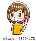 電話 スマホ 女性のイラスト 46004172