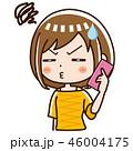 電話 スマホ 女性のイラスト 46004175