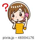 電話 スマホ 女性のイラスト 46004176