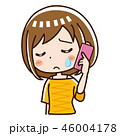 電話 スマホ 女性のイラスト 46004178