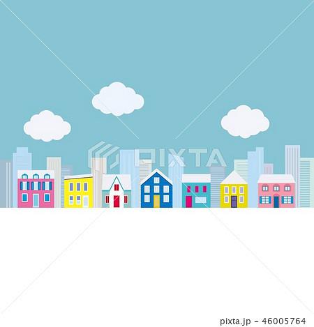 街並み 雪 雲 46005764