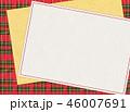 チェック チェック模様 フレームのイラスト 46007691