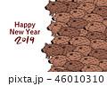年賀状 亥 猪のイラスト 46010310