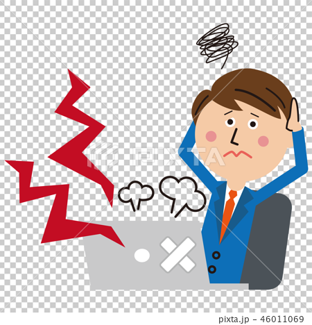 Office worker in pop blue suit breaks down 46011069
