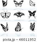 蝴蝶 蝶 虫のイラスト 46011952