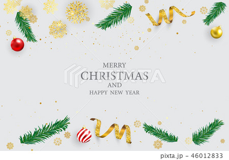 Merry Christmas and Happy New Year background. 46012833