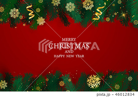 Merry Christmas and Happy New Year background. 46012834