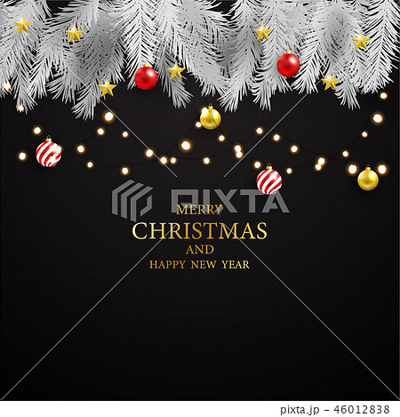 Christmas Party Poster and Happy New Year backgrou 46012838