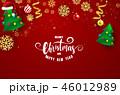 クリスマス グリーティング 装飾のイラスト 46012989