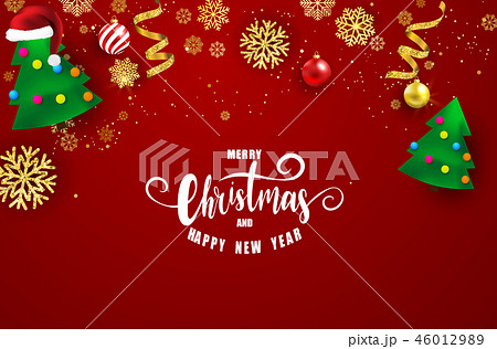 Merry Christmas and Happy New Year background. 46012989