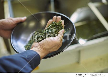 お茶工場 茶葉 46015489