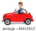fun mechanic in overalls with a car 46015917