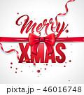 クリスマス ベクター 蝶結びのイラスト 46016748