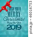クリスマス ベクター 蝶結びのイラスト 46016753