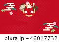 しめ飾り 背景 松竹梅のイラスト 46017732