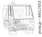 3Dイラスト 人影 影のイラスト 46017853