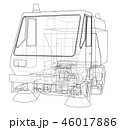 3Dイラスト アウトライン 輪郭のイラスト 46017886