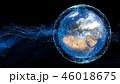 地球 グローバル ネットワークのイラスト 46018675