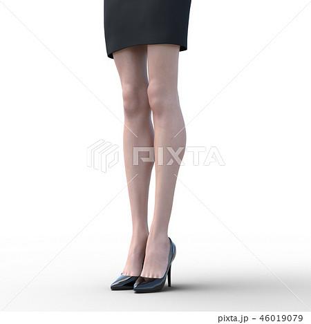 綺麗な足の女性 ビューティーイメージperming3DCGイラスト素材 46019079