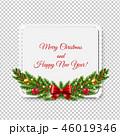 クリスマス あいさつ グリーティングのイラスト 46019346