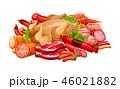 食 料理 食べ物のイラスト 46021882