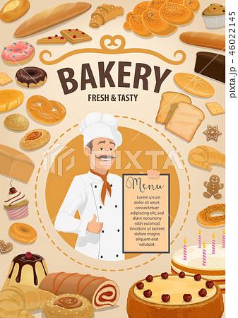 Bakery shop menu, baker and pastry food 46022145