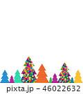 バックグラウンド 背景 クリスマスのイラスト 46022632