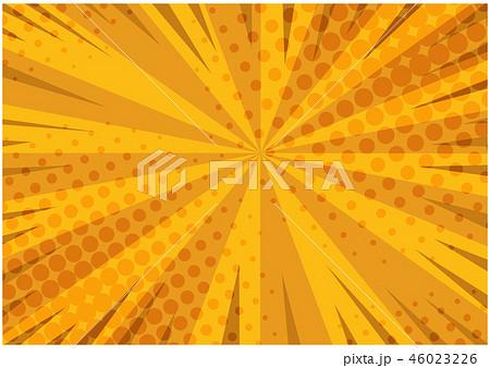 Abstract orange striped retro comic background 46023226