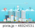 都市 高層ビル群 超高層建築のイラスト 46024531