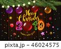 レタリング 文字入れ クリスマスのイラスト 46024575