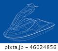 ジェットスキー ワイアーフレーム ワイヤーフレームのイラスト 46024856