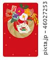 年賀状 亥年 ベクターのイラスト 46027253