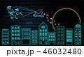 クリスマス 月 空のイラスト 46032480