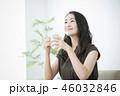 女性 コーヒー 飲み物の写真 46032846