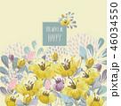 フローラル フラワー 花のイラスト 46034550